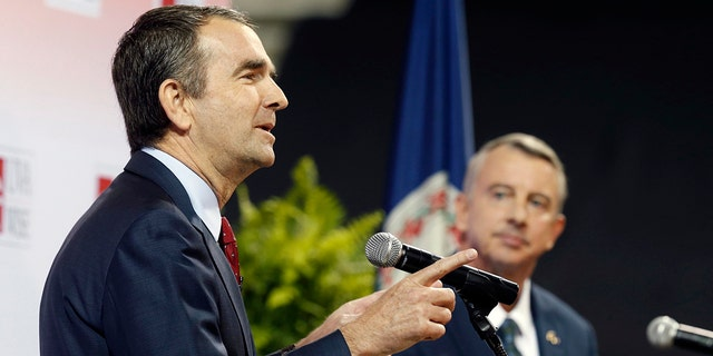 Virginia gubernatorial candidates Ralph Northam, left, and Ed Gillespie are shown during a recent debate.