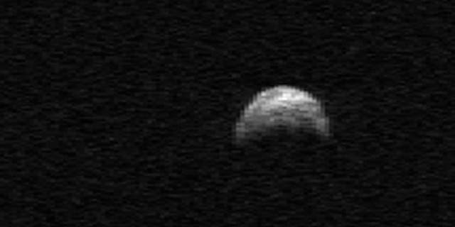 The near-Earth asteroid 2005 YU55 — on the list of potentially dangerous asteroids — was observed with the Arecibo Telescope's planetary radar on April 19, 2010, when it was about 1.5 million miles from Earth.