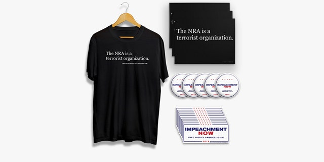 """A former Clinton staffer's PAC is selling anti-NRA terror T-shirts and """"Impeachment Now"""" anti-Trump buttons for $50 in a """"March For Our Lives Rally Pack."""""""