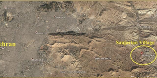NCRI exposed METFAZ location near Sanjarian Village in 2009.