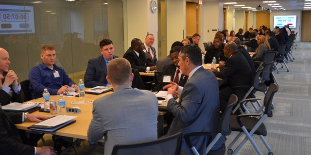 Shown here is a veterans recruitment event sponsored by the Northern Virginia Technology Council.