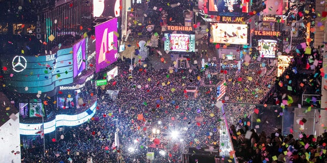 Times Square in New York City usually hosts a massive New Year's Eve celebration, but due to coronavirus, the event will largely be virtual this year. (Associated Press)