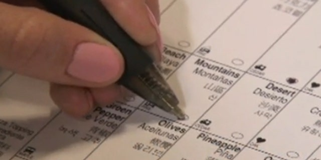 Shown here is an image of a sample ballot, without candidate names, from New York City. (New York City Board of Elections)