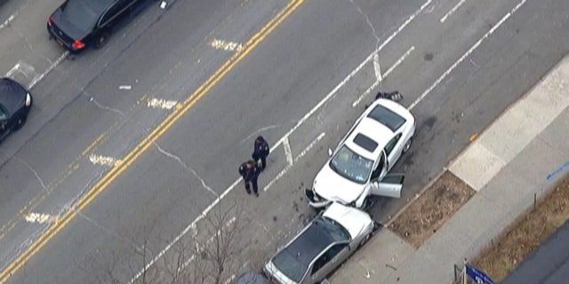 Two children were killed and several other people were injured after a car truck people in Brooklyn on Monday.  (