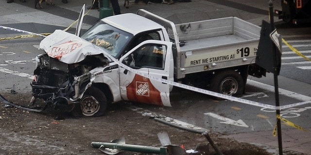 The suspect in Tuesday's terror attack in New York City was driving a Home Depot rental truck when he plowed down a group of pedestrians near the World Trade Center.