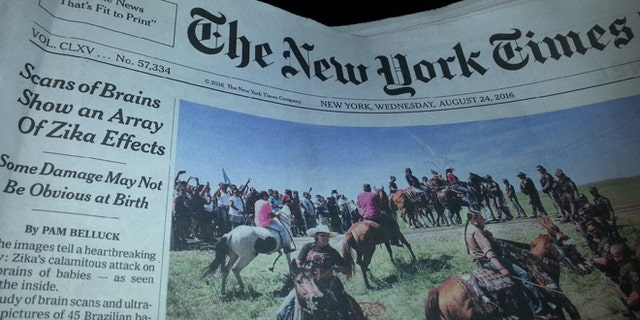 Wednesday's New York Times ignored a major story from The Associated Press.