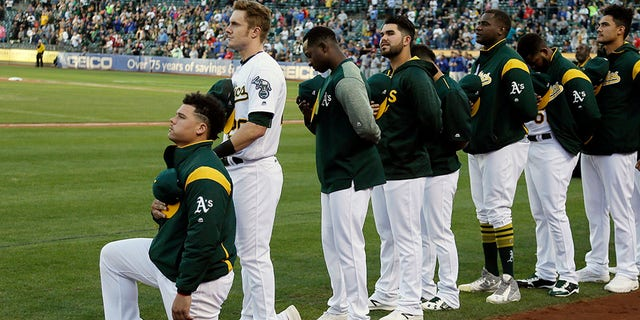 Maxwell was the first player to kneel in MLB.