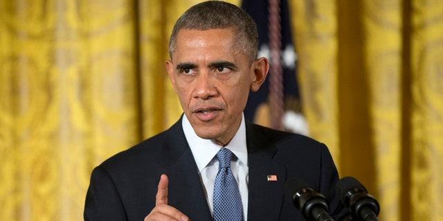 FILE: Nov. 19, 2014: President Obama speaks in the East Room of the White House in Washington, D.C.
