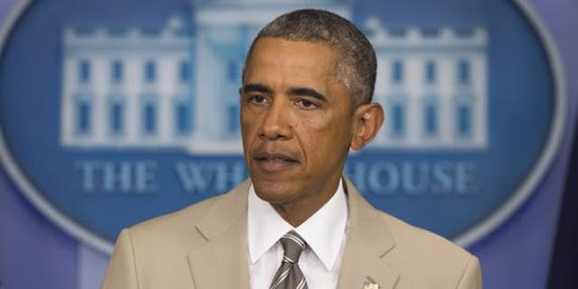 Former President Barack Obama's choice of a tan suit did not go over well in Washington in 2014.