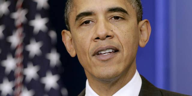 President Barack Obama makes a statement on today's initial public stock offering of General Motors, Thursday, Nov. 18, 2010, in the press briefing room at the White House in Washington. (AP Photo/J. Scott Applewhite)