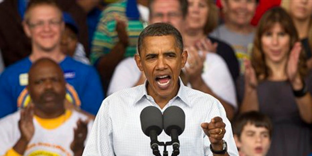 President Obama speaks at the annual Milwaukee Area Labor Council Laborfest Sept. 6 in Milwaukee. (AP Photo)