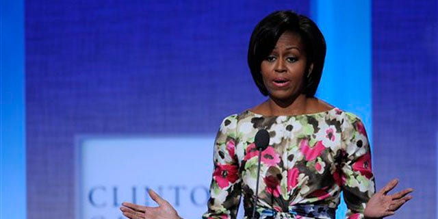 First lady Michelle Obama speaks during the 2010 Clinton Global Initiative Meetings Sept. 23 in New York. (AP Photo)