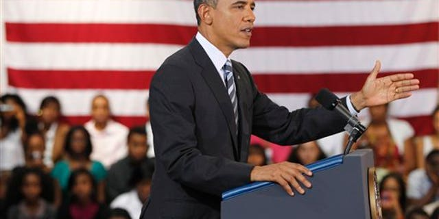 Sept. 28: President Barack Obama delivers his third annual back-to-school speech at Benjamin Banneker Academic High School in Washington.