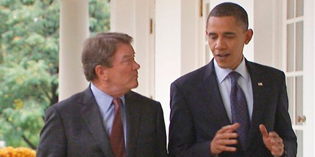 """In this image taken from video and released by CBS, President Obama talks with """"60 Minutes"""" correspondent Steve Kroft at the White House in Washington, Thursday, Nov. 4, 2010, for the president's first one-on-one interview since the 2010 midterm elections. The interview will air on """"60 Minutes,"""" Sunday, Nov. 7, 2010 on CBS."""