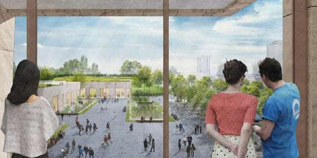 An artist's impression of the Obama Presidential Center.