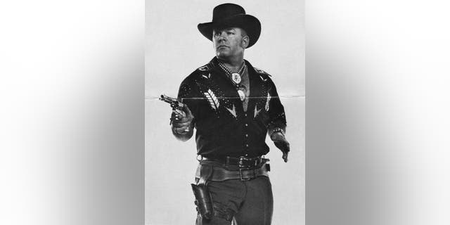 """A 1970 photo of Bob Munden, recognized by Guinness Book of World Records as the """"fastest man with a gun who ever lived."""""""