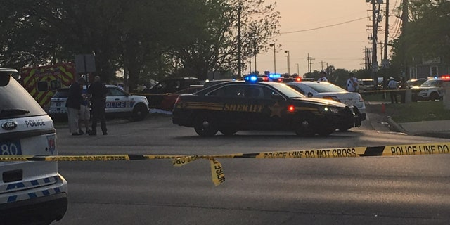 The suspect was killed during the brief shootout, according to police.