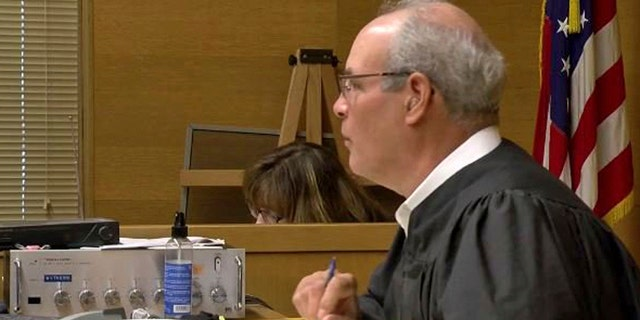 This undated still image from video provided by WTOV-TV in Steubenville, Ohio, shows Jefferson County, Ohio Judge Joseph Bruzzese Jr.