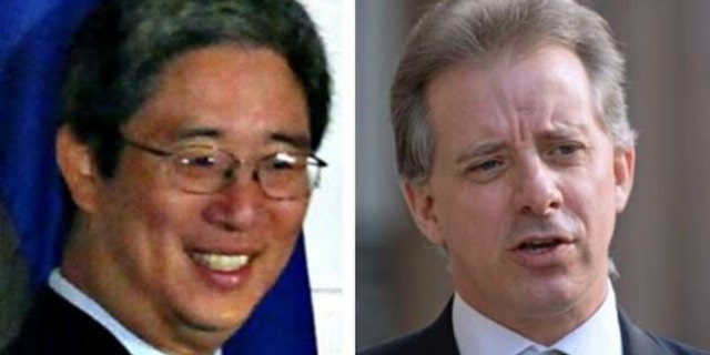 Senior Justice Department official Bruce Ohr, left, continued to communicate with former British spy Christopher Steele, right, even after the FBI cut ties with him.