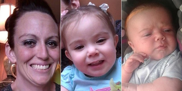 Adelyn Keener, center, and Maxwell Keener were believed to be with their mother, Sarah Jane Lewis.