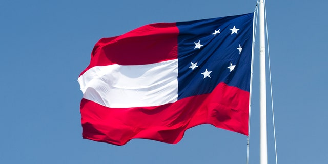 The Confederate States of America flag was the first design flown during the Civil War and is still flown today at Six Flags Over Texas