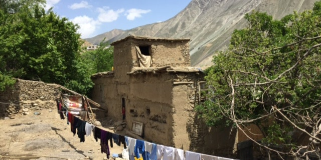 Abdul Satar's home in a remote mountainous region of Afghanistan