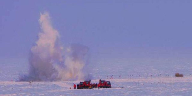 Kaboom! Dynamite, South Pole style.