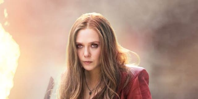 "Elizabeth Olsen plays Scarlet Witch in ""Avengers: Infinity War."""