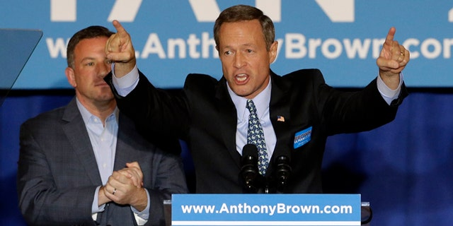 Maryland Gov. Martin O'Malley speaks during a get-out-the-vote rally in Baltimore.