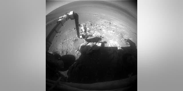 Opportunity front Hazcam image taken on Sol 4979 (Jan. 25, 2018).