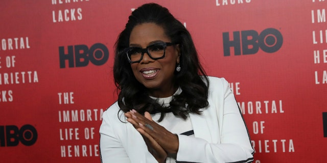 "Oprah Winfrey at the premiere of ""The Immortal Life of Henrietta Lacks"""