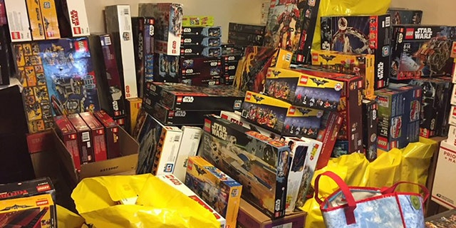 Police photo shows Lego sets in Azar's home.