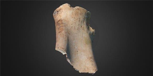Oracle bone. (University of Cambridge)