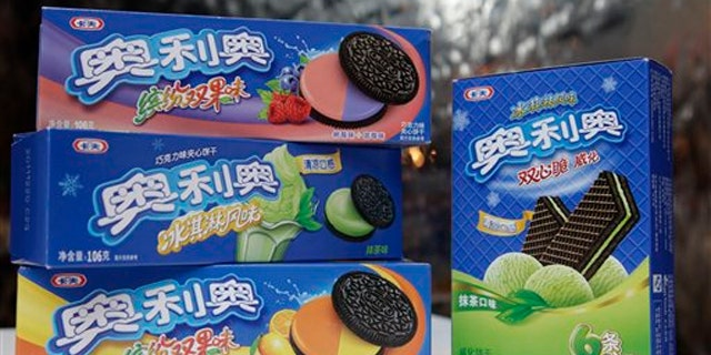 March 14, 2012:  Lime-flavored Nabisco Oreo's and wafers.