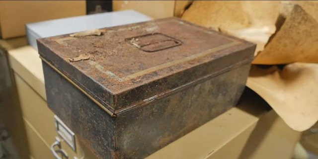 Work crews found this time capsule Tuesday inside a Confederate memorial statue being moved to a new location in Orlando.