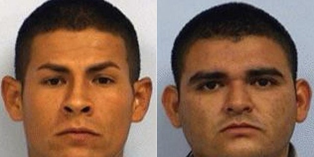 Juan Lozano Ortega, 24, and Edgar Gerardo Guzman Perez, 26, right, have been charged with aggravated sexual assault in the rape of a 13-year-old Texas girl. (Fox19.com)