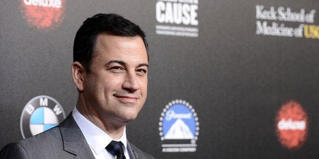 """In this March 20, 2014, file photo, television personality and event host Jimmy Kimmel attends the 2nd Annual """"Rebels With a Cause"""" Gala benefiting the USC Center for Applied Molecular Medicine at Paramount Pictures Studios in Los Angeles."""