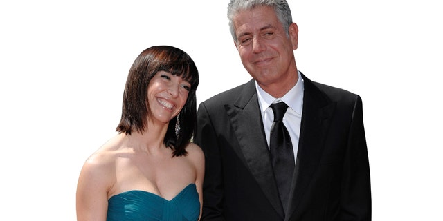 Bourdain married his ex-wife Ottavia Busia in 2007 and the couple split in 2016. Here the couple are pictured together in 2009.