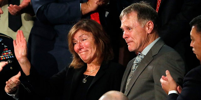 Cindy and Fred Warmbier received a standing ovation during President Trump's State of the Union address on Capitol Hill in January.