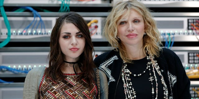 Frances Bean Cobain and her mother singer Courtney Love.