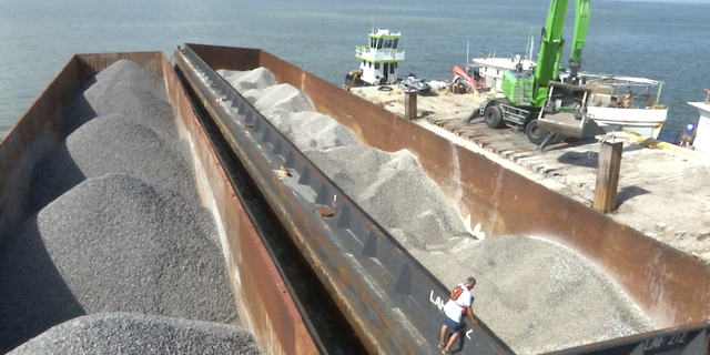 Prestige Oysters, one of the nation's leading oyster distributors, is laying down 10,000 tons of limestone for a new oyster reef off the coast of Galveston County.