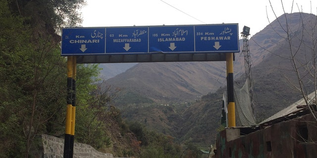 """The """"Line of Control"""" on the Pakistan side of the Indian border, Jammu and Kashmir"""