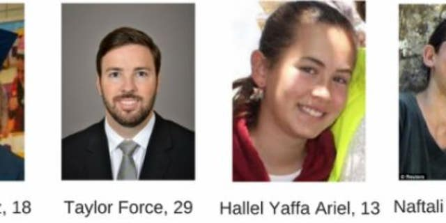 Israeli-Americans killed in terrorist attacks between 2014 and 2016. Their loved ones signed letters, protesting Jibril Rajoub's upcoming U.S. visit.