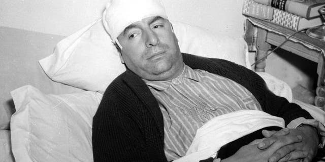 Dec. 1941: Pablo Neruda, Chilean consul-general in Mexico and famous Latin American poet, lies in a bed in Mexico City, recovering from injuries police said were inflicted by a group of German nationals in Cuernavaca the day before.