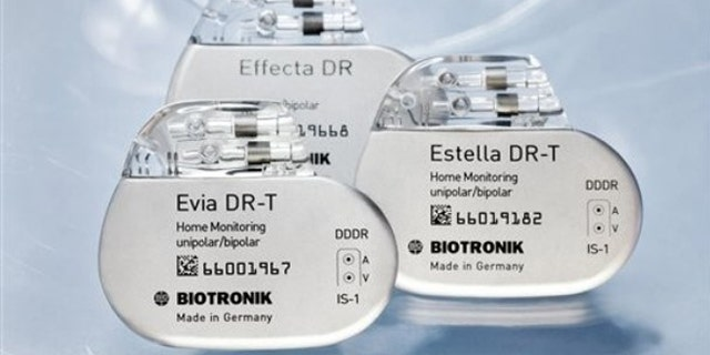 A collection of pacemakers from German manufacturer Biotronik.