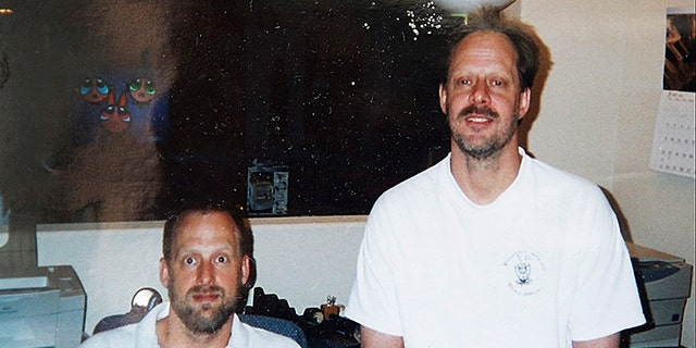 This undated photo shows Las Vegas gunman Stephen Paddock, right, and his brother Eric Paddock.