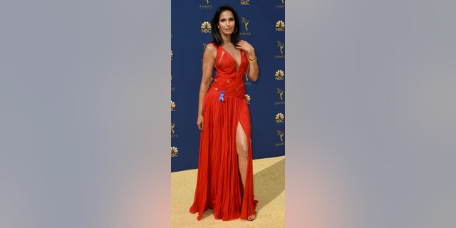 The TV host stuns in the same J. Mendal gown that she wore a year prior.