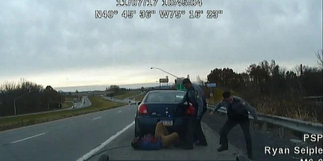 Harrowing video shows roadside gun battle between