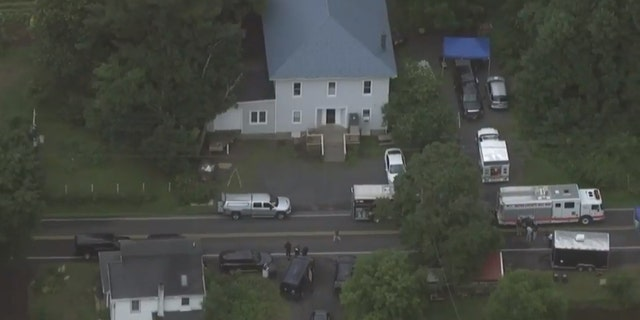 "Authorities said an 'active investigation"" was underway in the area of Brick Tavern Road in Milford Township, Pa."