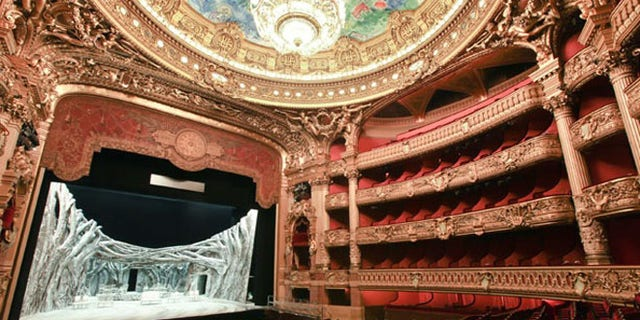"""The Paris Opera's Palais Garnier theater inspired the novel """"The Phantom of the Opera"""" when a mysterious apartment (and, by some accounts, a male corpse) was discovered during renovations."""